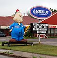 Lube-X Oil change Sign and inflatable person 3801.jpg