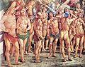Luca signorelli, cappella di san brizio, eletti in paradiso 03.jpg