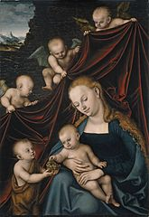 The Virgin and the Child, Saint John and Angels