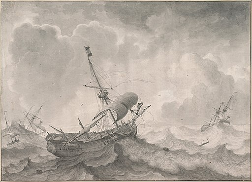 Ludolf Bakhuizen - Ships on a Stormy Sea, 1698 - Google Art Project