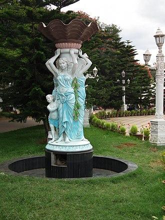 Lumbini Gardens - A statue in Lumbini gardens