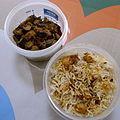 Lunchbox-20101108 Chana Biryani, eggplant poriyal (5159550214).jpg