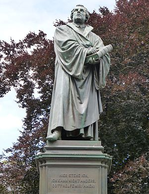 Diet of Worms - Luther statue in Worms