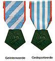 Médaille de la déportation et de l'internement pour faits de Résistance tweemaal met legenda.jpg