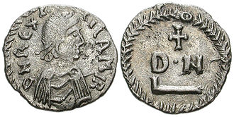 Gelimer - 50 denarii coin with profile of King Gelimer