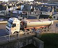 M. Way & Son artic tipper, Port of Teignmouth, 30 January 2013.jpg