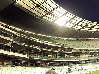 Melbourne Cricket Club - The current Members Reserve at the MCG which was completed in 2005.