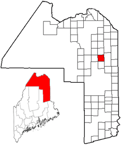Location of Mapleton, Maine