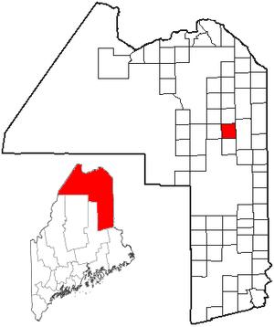 Mapleton, Maine - Image: ME Map location of Mapleton