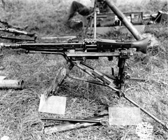 MG 42 - The MG 42 mounted on the Lafette 42 tripod