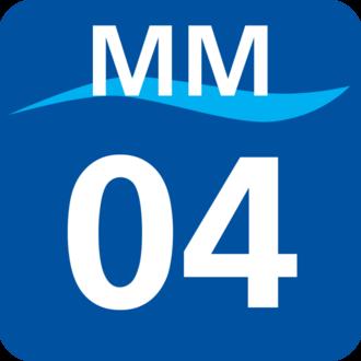 Bashamichi Station - Image: MM 04 station number