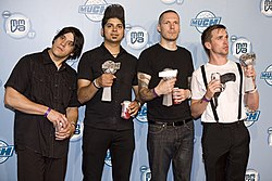 Billy Talent la 2007 MuchMusic Video Awards.(de la stânga la dreapta) Jonathan Gallant, Ian D'Sa,Aaron Solowoniuk, Benjamin Kowalewicz
