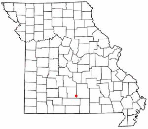Mountain Grove, Missouri - Image: MO Map doton Mountain Grove