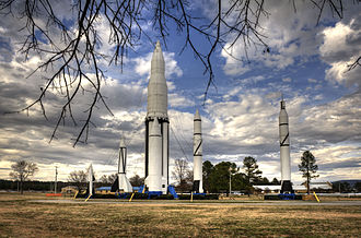 Marshall Space Flight Center - Rockets developed at MSFC and ABMA before it are on display at MSFC.
