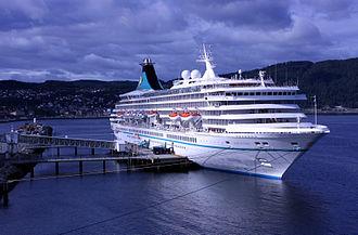 Phoenix Reisen - MV Artania at Trondheim, Norway