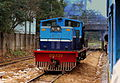 MYANMAR RAILWAYS DIESEL SHUNTER ON THE YANGON CIRCULAR RAILWAY YANGON MYANMAR JAN 2013 (8553743373).jpg