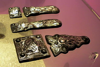 Maaseik - Merovingian belt buckles, from the early days of Aldeneik Abbey