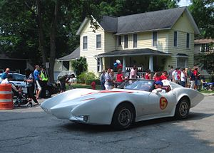 Mach Five - Mach 5 replica at Fourth of July parade in 2015 Northville, Michigan