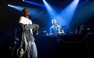 Freddie Gibbs - Freddie Gibbs (left) performing with Madlib (right) performing as MadGibbs