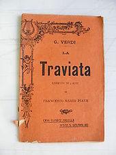 La copertina del libretto in una edizione popolare dell'Edizioni Madella di inizio novecento