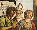 Madonna in trono col Bambino fra angeli e santi - Particolare 01.jpg