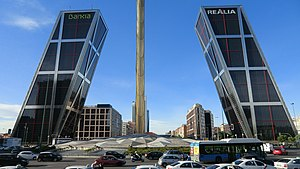 Madrid- Plaza de Castilla - Gate of Europe (16498969530).jpg