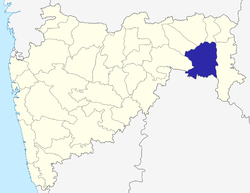 Location of Chandrapur district in Maharashtra