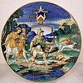 Maiolica di urbino, nicola da urbino, diana cacciatrice, 1535 ca.jpg