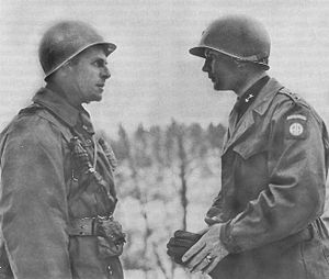 Matthew Ridgway - Major General Matthew Ridgway and Major General James M. Gavin during the Battle of the Bulge, December 19, 1944