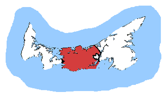 Malpeque (electoral district) - Malpeque in relation to the other Prince Edward Island ridings