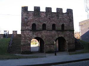 Mamucium - Reconstructed gateway to Roman fort (Mamucium), Castlefield