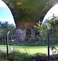 Manchester bolton bury canal passing under clifton viaduct.jpg