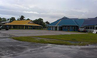 Funafuti International Airport - Maneapa and airport building