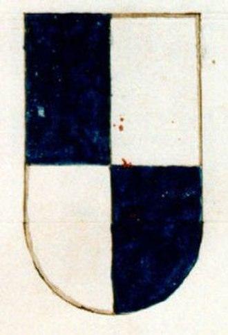 Manfredi family - Coat of arms of the Manfredi family