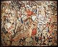 Manifattura fiamminga (prob. tournai), arazzo con la battaglia di roncisvalle, 1475-1500 ca. (v&a) 01.jpg