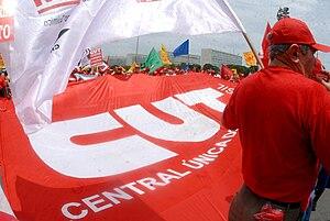 Central Única dos Trabalhadores - Image: Manifestation of the CUT in Brasilia