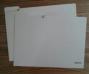 Manila folder - Two manila folders made by Leitz