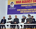 Manmohan Singh at the foundation stone laying ceremony of the Homi Bhabha Cancer Hospital and Research Centre, at Mullanpur, Mohali, New Chandigarh, Punjab. The Governor of Punjab, Shri Shivraj Patil.jpg