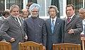 Manmohan Singh with the President of Brazil, Mr. Luiz Inacio Lula Da Silva, the Prime Minister of Japan, Mr. Junichiro Koizumi and the Chancellor of Federal Republic of Germany (1).jpg