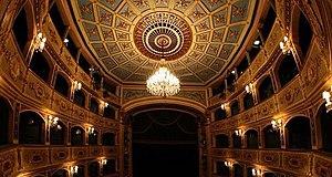 Manoel Theatre - The proscenium and theatre-boxes at the Manoel.