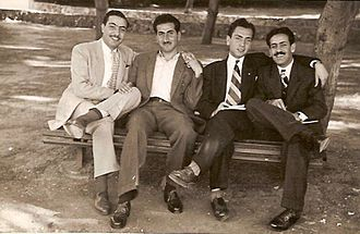 Mansur al-Atrash - Hasan Mraywed and Mansour al-Atrash at the American University of Beirut in the 1940s