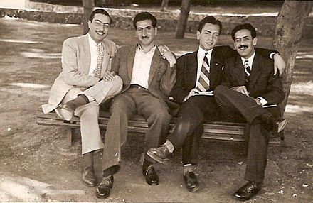 Hasan Mraywed and Mansour al-Atrash at the American University of Beirut in the 1940s Mansur Al-Atrash1.jpg