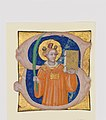 Manuscript Illumination with Saint Stephen in an Initial S, from an Antiphonary MET DP164992.jpg