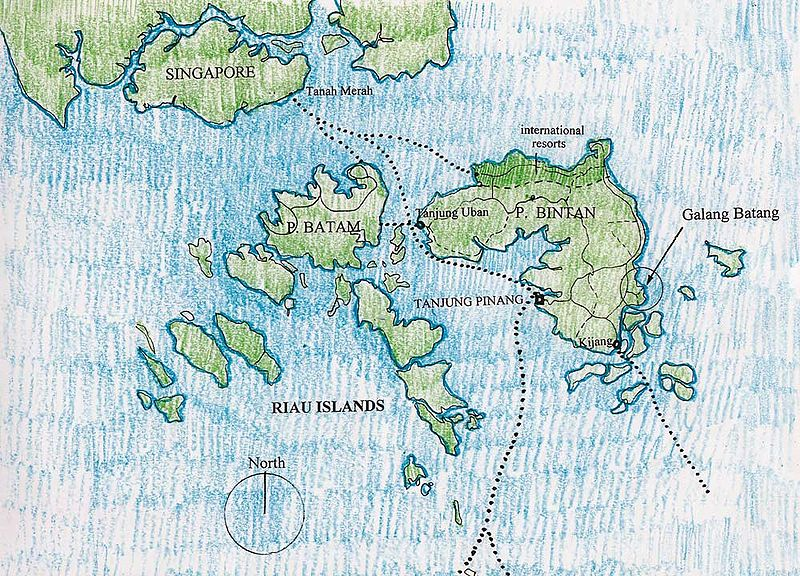 Bintan Island indonesia map