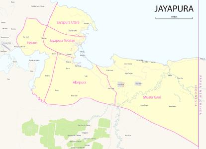 Daftar Distrik Kelurahan Dan Kampung Di Kota Jayapura Wikipedia Bahasa Indonesia Ensiklopedia Bebas
