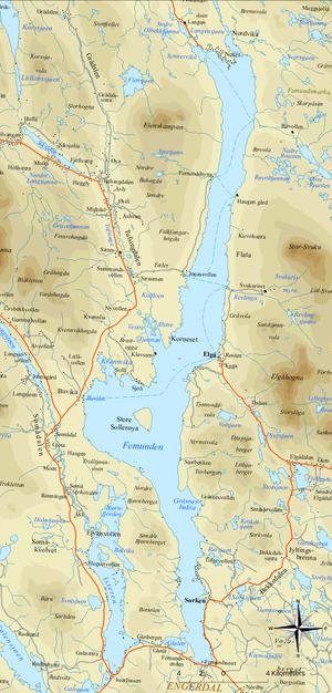 Femund - Map of Femund
