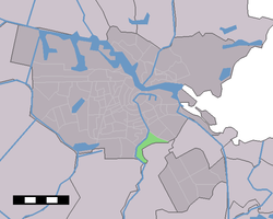 Location of Omval (green) in Amsterdam