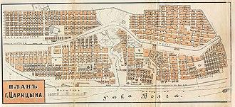 Volgograd - City map of Tsaritsyn (1909)