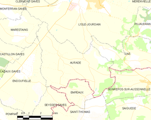 Auradé - Auradé and its surrounding communes