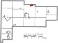 Map of Auglaize County Ohio Highlighting Cridersville Village.png